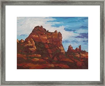 Elephant Rock Framed Print by Sandy Tracey