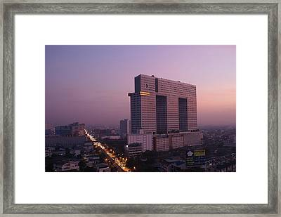 Elephant Tower Purple Sunrise Framed Print by Gregory Smith