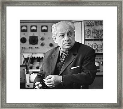 Elepter Andronikashvili, Soviet Physicist Framed Print by Ria Novosti