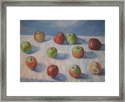 Eleven Apples Framed Print