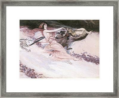 Elfin Revellers Framed Print by Arthur Rackman