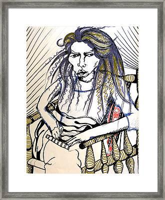 Elham Framed Print by Nina Mirhabibi