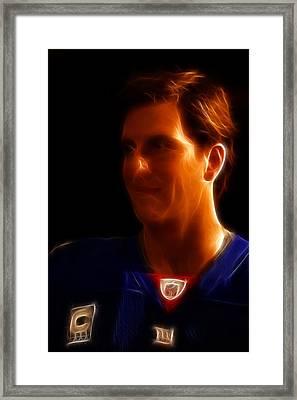 Eli Manning - New York Giants - Quarterback - Super Bowl Champion Framed Print by Lee Dos Santos