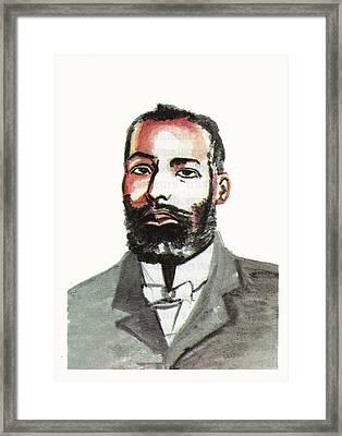 Elijah Mccoy Framed Print by Emmanuel Baliyanga