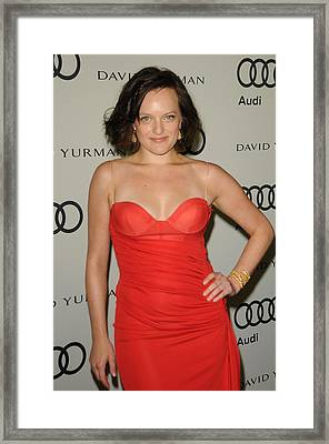 Elisabeth Moss At Arrivals For Audi Framed Print