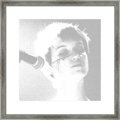 Elizabeth Baker Of Baker Family Band Framed Print by James Granberry