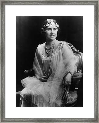 Elizabeth Bowes-lyon,  1900-2002 Framed Print by Everett