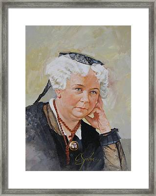 Framed Print featuring the painting Elizabeth Cady Stanton by Cliff Spohn