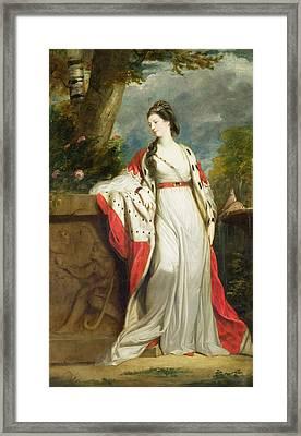 Elizabeth Gunning - Duchess Of Hamilton And Duchess Of Argyll Framed Print by Sir Joshua Reynolds