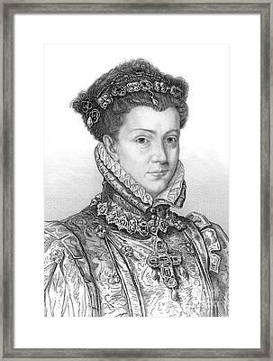 Elizabeth Of Valois Framed Print