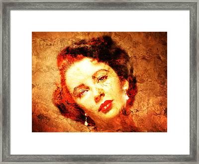 Elizabeth Taylor Framed Print by J- J- Espinoza