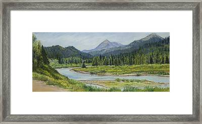 Elk Crossing Framed Print