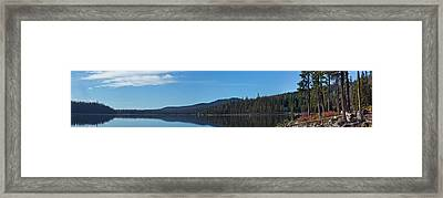 Elk Lake Oregon Panorama Framed Print by Twenty Two North Photography