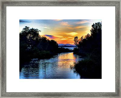 Elk Rapids Sunset Framed Print by Matthew Winn