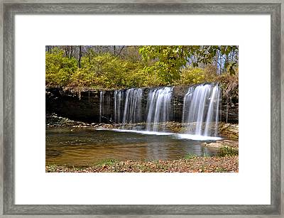 Elkhorn Falls Wayne County Indiana Framed Print by Marsha Williamson Mohr