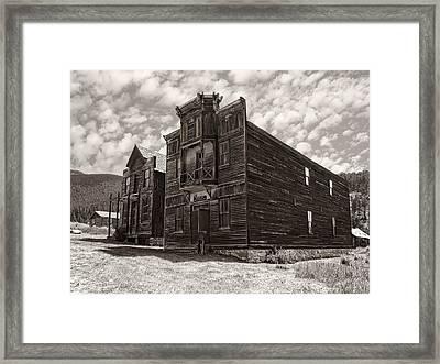 Elkhorn Ghost Town Public Halls 3 - Montana Framed Print by Daniel Hagerman