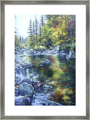 Elkhorn Gold Framed Print