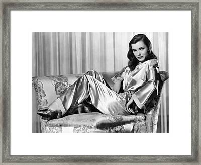 Ella Raines, Universal Pictures Framed Print by Everett