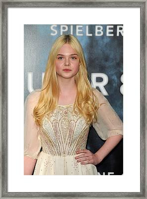 Elle Fanning At Arrivals For Super 8 Framed Print by Everett