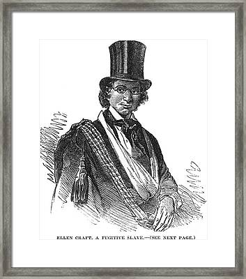 Ellen Craft (b.1826) Framed Print by Granger