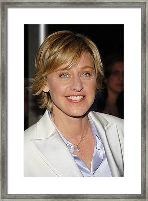 Ellen Degeneres Arrives On The Red Framed Print