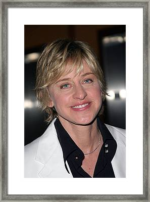 Ellen Degeneres At Arrivals For 32nd Framed Print