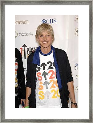 Ellen Degeneres At Arrivals For Stand Framed Print