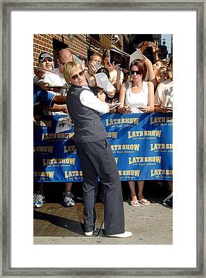 Ellen Degeneres At Arrivals For The Framed Print