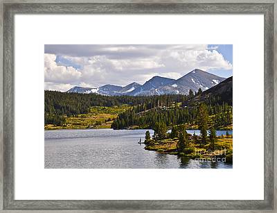 Ellery Lake Framed Print by Camille Lyver