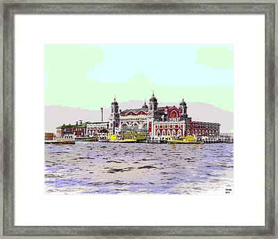 Ellis Island Framed Print by Charles Shoup
