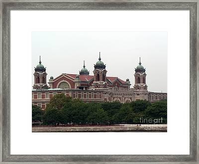 Ellis Island  Framed Print by Elizabeth Fontaine-Barr