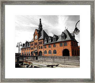 Ellis Island Train Station Framed Print