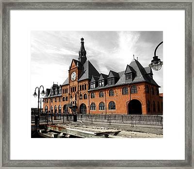 Framed Print featuring the photograph Ellis Island Train Station by Raymond Earley