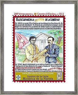 Ellos Llevaron La Antorcha De La Libertad Framed Print by Warren Clark