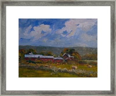 Elm Knoll September Framed Print by Edward White
