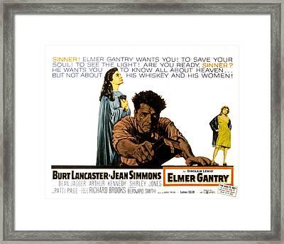 Elmer Gantry, Jean Simmons, Burt Framed Print by Everett
