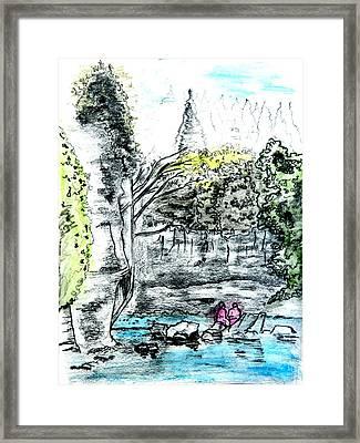 Elora Sketch Framed Print by Musat Iliescu
