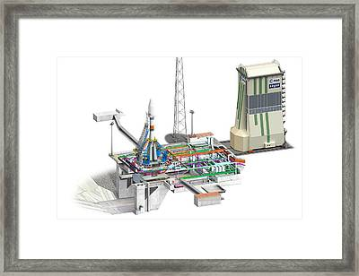 Els Launch Pad, Guiana Space Centre Framed Print by David Ducros