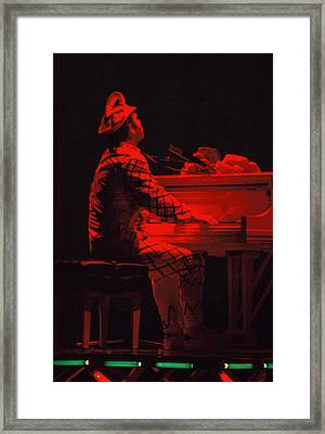 Elton In The Red Framed Print by Scott Smith