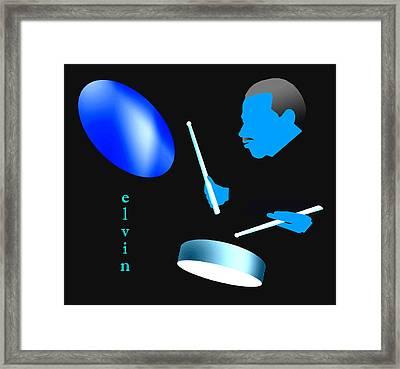 Elvin Blue Framed Print by Victor Bailey