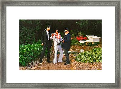 Elvis And The Blues Framed Print by Randy Rosenberger