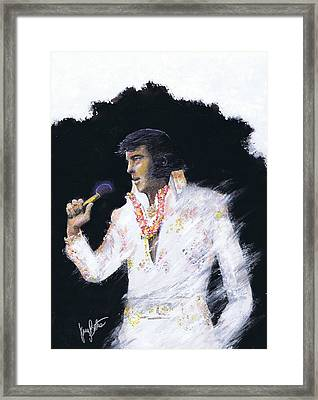 Elvis In Concert Framed Print