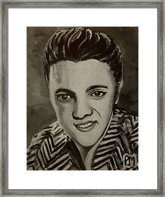 Elvis In Z Shirt Framed Print by Pete Maier