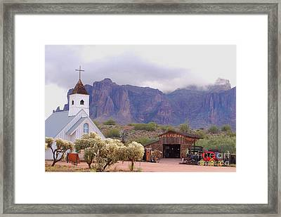 Framed Print featuring the photograph Elvis Memorial Chapel by Tam Ryan