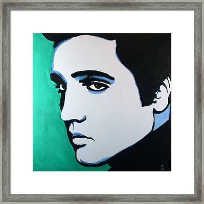 Elvis Presley - Blue Green Framed Print