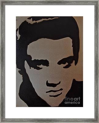 Elvis Framed Print by Tom Evans