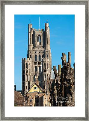 Framed Print featuring the photograph Ely Cathedral by Andrew  Michael