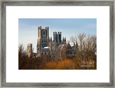 Framed Print featuring the photograph Ely Cathedral Scenic by Andrew  Michael