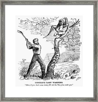 Emancipation Cartoon, 1862 Framed Print