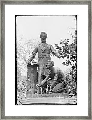 Emancipation Memorial, 1876 Framed Print